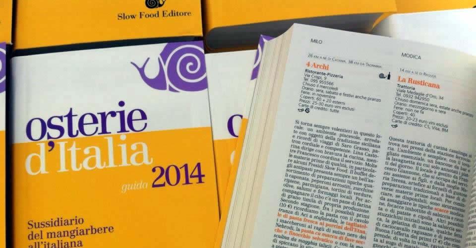 Osterie d'Italia: le recensioni dei 4 Archi