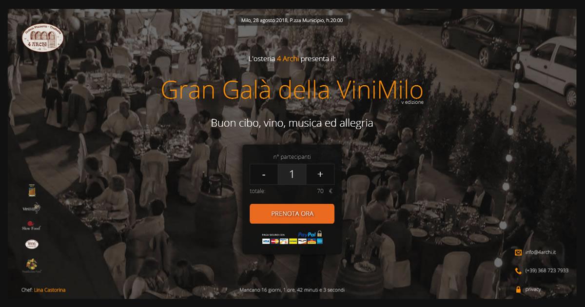Acquista il biglietto per il Gran Galà della ViniMilo