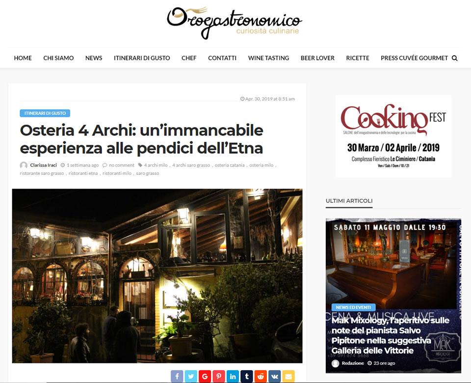 I 4 Archi su Orogastronomico.it